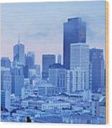 Blue Mist, San Francisco Wood Print