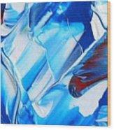 blue mode I Wood Print