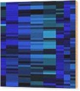 Blue Mondrian  Wood Print