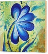 Blue Mood  Wood Print