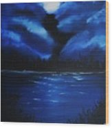 Blue Moon 2 Wood Print