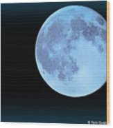 Blue Moonshine Wood Print