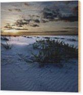 Blue Morning Wood Print by Michael Thomas