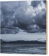 Blue Morning Taal Volcano Philippines Wood Print