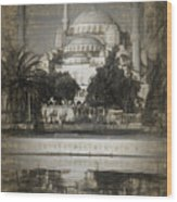 Blue Mosque - Sketch Wood Print