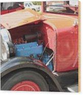 Blue Motor Wood Print