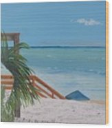 Blue Mountain Beach Dune Wood Print