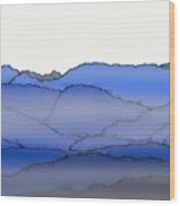 Blue Mountain Fog Wood Print
