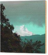 Blue Mountain Wood Print