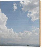 Blue Mountain Sky Wood Print