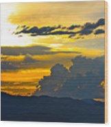 Blue Mountain Sunset Wood Print