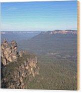 Blue Mountains Australia Wood Print