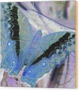 Blue Negative Wood Print