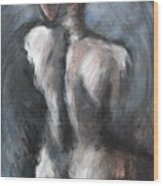 Blue Night - Nudes Gallery Wood Print