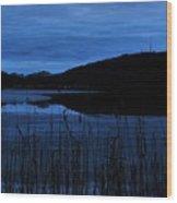 Blue Night Falling Wood Print