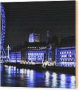 Blue Night In London Wood Print