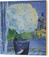 Blue Night Wood Print