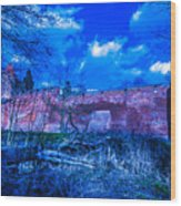 Blue Night Over Teutonic Castle Wood Print