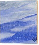 Blue Noon In Western Montana Wood Print