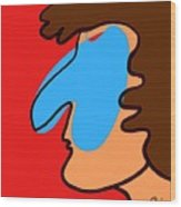 Blue Nose Wood Print