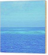 Blue Ocean Wood Print