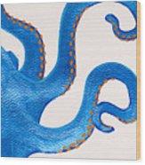 Blue Octopus Wood Print