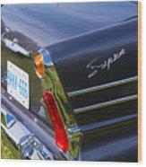 Blue Old Car Wood Print