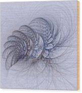 Blue Pagliai Ferns Wood Print