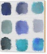 Blue Palette, No.1 Wood Print