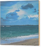 Blue Paradise, Scenic Ocean View From The Bahamas Wood Print