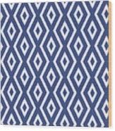 Blue Pattern Wood Print