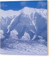 Blue Peaks Wood Print