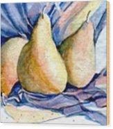 Blue Pears Wood Print