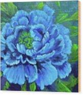 Blue Peony Jenny Lee Discount Wood Print