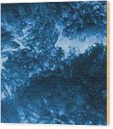 Blue Plants Wood Print