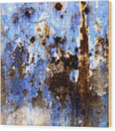 Blue Plaster 2 By Darian Day Wood Print