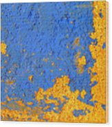 Blue Plaster 3 By Darian Day Wood Print
