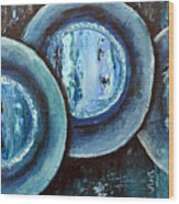Blue Plate Special Wood Print