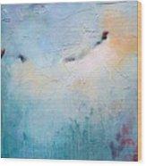 Blue Poetry Wood Print