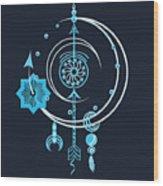 Blue Point Wood Print