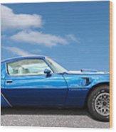 Blue Pontiac Trans Am 1978 Wood Print
