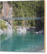 Blue Pools New Zealand Wood Print