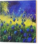Blue Poppies Wood Print