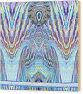 Blue Praise Wood Print