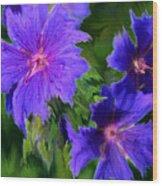 Blue Rags Wood Print