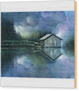 Blue Rapsody Wood Print