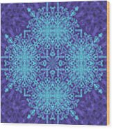 Blue Resonance Wood Print