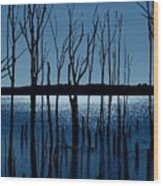 Blue Reservoir - Manasquan Reservoir Wood Print