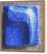 Blue Resh Wood Print