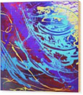 Blue Reverie Wood Print